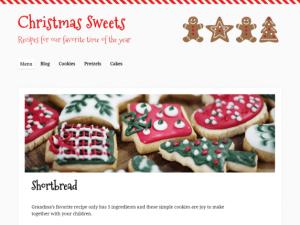 Christmas Sweets, A new Christmas blog theme