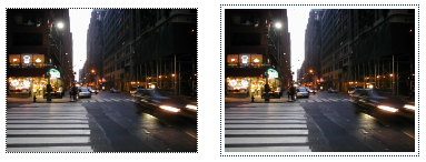 Two linked images are presented next to eachother, to show what the focus outline looks like with and without an offset. The outline is more distinctive for the image that has a 3 pixel offset, because both the outline and the image is dar.